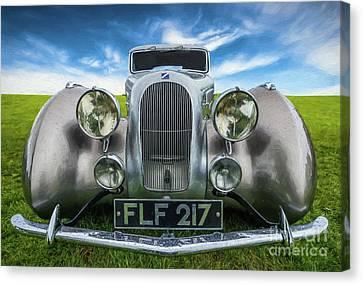 Talbot T23 Figoni Et Falaschi Coupe Canvas Print by Adrian Evans
