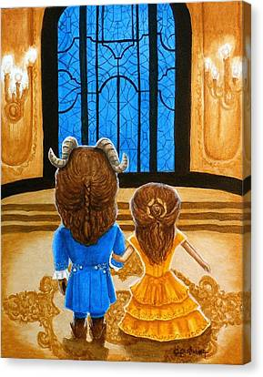 Canvas Print featuring the painting Tale As Old As Time by Al  Molina
