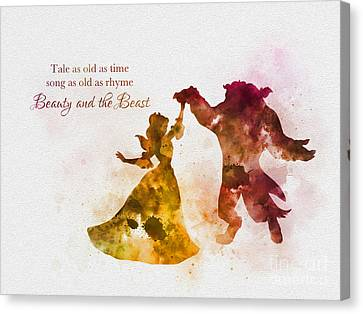 Fairy Canvas Print - Tale As Old As Time by Rebecca Jenkins