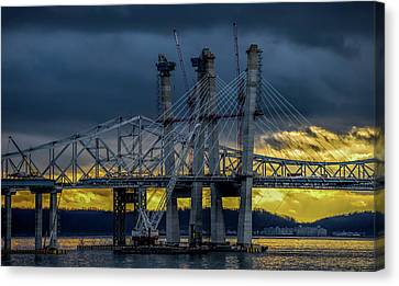 Tale Of 2 Bridges At Sunset Canvas Print