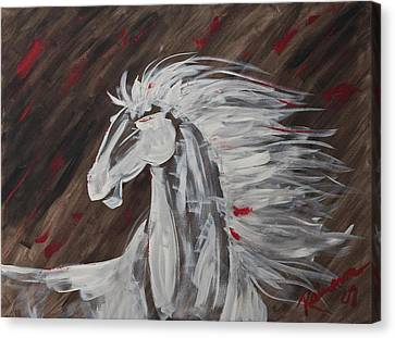 Tale Of The Wind Horse Canvas Print by Stephane Trahan