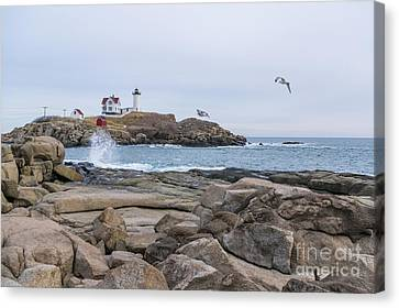 Tale Of Two Lighthouse Canvas Print