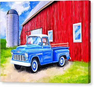 Farm Fields Canvas Print - Tales From The Farm by Mark Tisdale