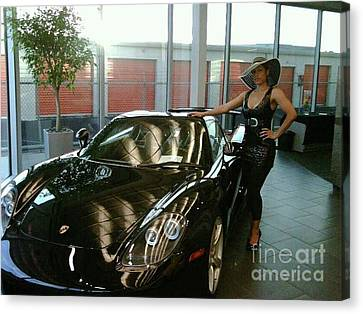 Talisa Hartleys Sports Cars And Big Muscles Canvas Print