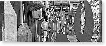 Talk To The Hand Talk To The Claw Bw Canvas Print by Betsy Knapp