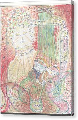 tALkinG hEadS  entertaining that eavesdropping hip hopping trash talking egotistical  CAT Canvas Print by Rich Graham