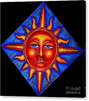 Talking Sun Canvas Print by Genevieve Esson