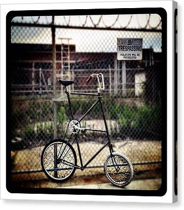Tall Bike Canvas Print