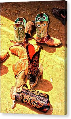 Tall Boots Canvas Print by Gus McCrea