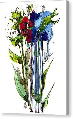 Tall Bouquet Canvas Print by Tonya Doughty