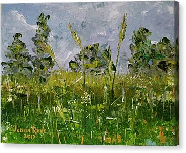 Canvas Print featuring the painting Tall Grass by Judith Rhue