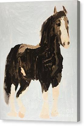 Canvas Print featuring the painting Tall Horse by Donald J Ryker III