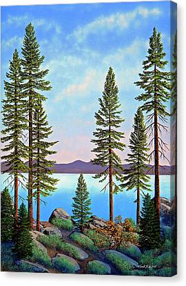 Tall Pines Of Lake Tahoe Canvas Print by Frank Wilson