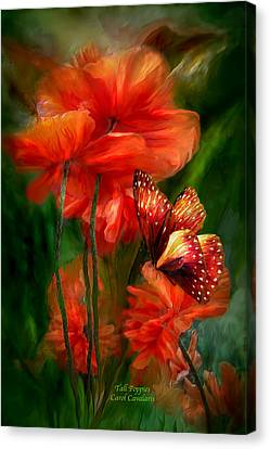 Insects Canvas Print - Tall Poppies by Carol Cavalaris