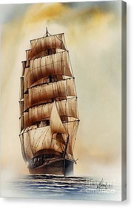 Tall Ship Carradale Canvas Print by James Williamson