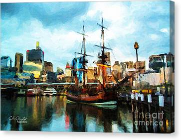 Tall Ship Darling Harbour Canvas Print by Chris Armytage