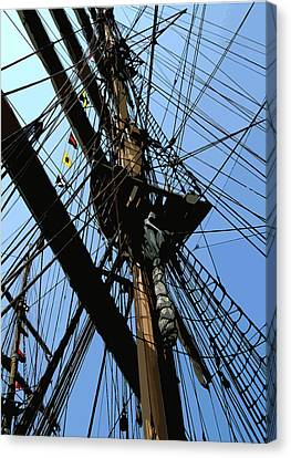 Tall Ship Design By John Foster Dyess Canvas Print