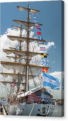 Tall Ship Festival 2017 In Charleston Sc Canvas Print by Dale Powell