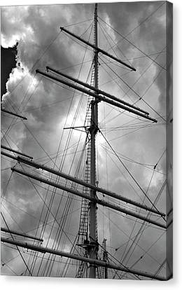 Tall Ship Masts Canvas Print by Robert Ullmann