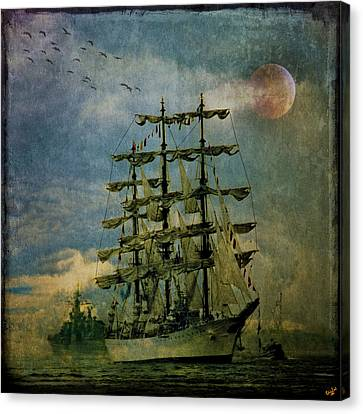 Tall Ship New York Harbor 1976 Canvas Print by Chris Lord