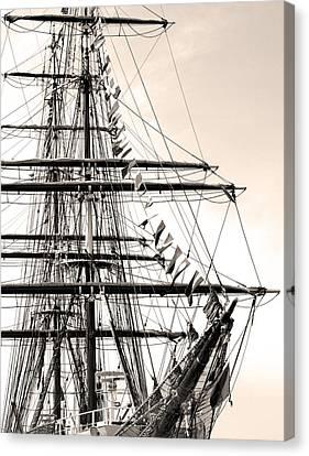 Tall Ship Canvas Print by Paul Boroznoff