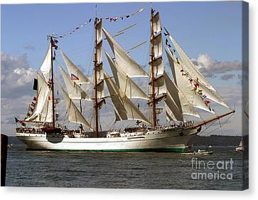 Tall Ship Canvas Print by Robert  Torkomian