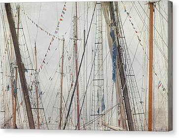 Canvas Print featuring the photograph Tall Ships And Schooners Rigging And Masts  by Joann Vitali