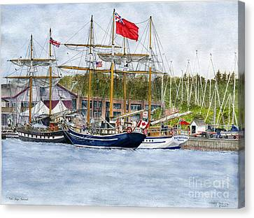 Canvas Print featuring the painting Tall Ships Festival by Melly Terpening