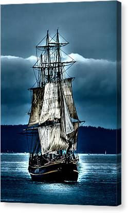 Tall Ships - Hms Bounty Canvas Print by David Patterson