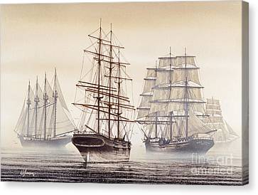 Tall Ships Canvas Print by James Williamson