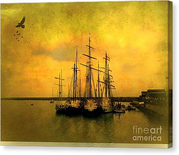Tall Ships Of Dana Point Canvas Print by Kevin Moore