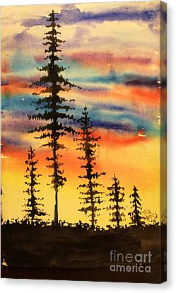 Canvas Print - Tall Trees Silhouette by Tina Sheppard