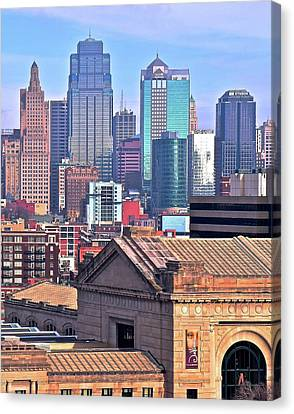 Tall View Of Kc Canvas Print by Frozen in Time Fine Art Photography