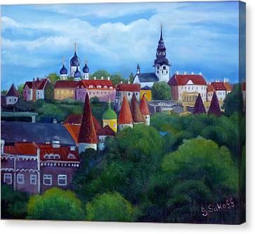 Tallinn Estonia Canvas Print by Janet Silkoff