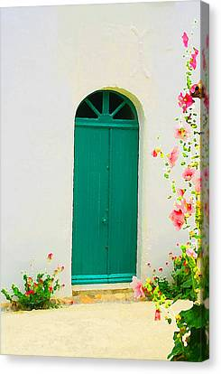 Talmont Green Door Canvas Print by Alex Antoine