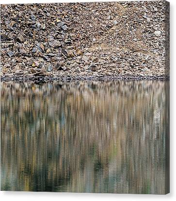 Canvas Print featuring the photograph Talus Reflection by Alexander Kunz