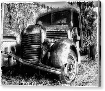 Tam Truck Black And White Canvas Print by Marko Mitic