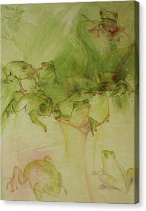 Tamalpais Spring Canvas Print by Georgia Annwell