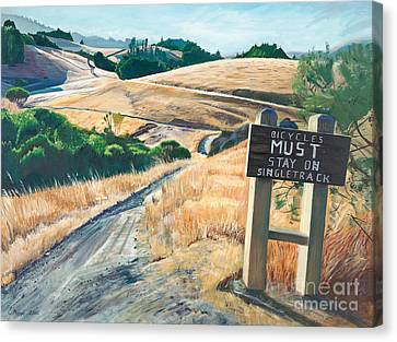Tamarancho Trek Canvas Print by Colleen Proppe