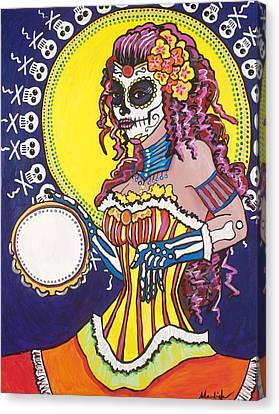 Tamborine Canvas Print by Mardi Claw