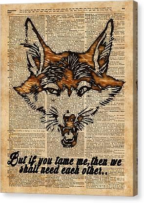 Friends Forever Canvas Print - Tame Me - Fox Said. Dictionary Art  by Fundacja Rozwoju Przedsiebiorczosci
