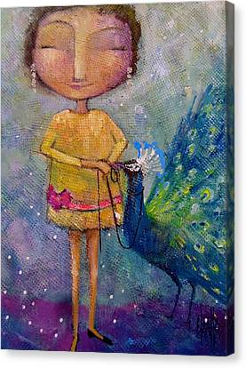 Canvas Print featuring the painting Tame Your Pride by Eleatta Diver
