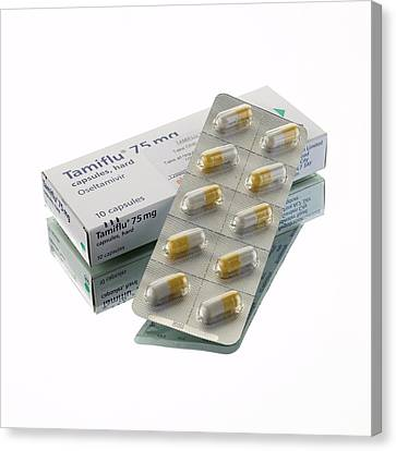 Tamiflu Capsules Canvas Print by Mark Sykes