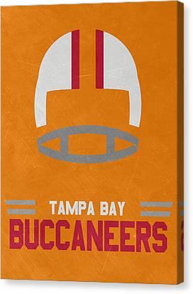 Tampa Bay Buccaneers Vintage Art Canvas Print