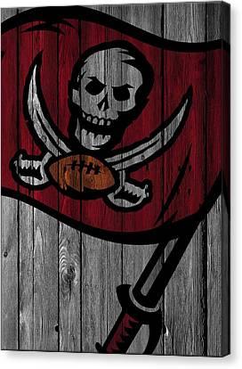 Buccaneer Canvas Print - Tampa Bay Buccaneers Wood Fence by Joe Hamilton