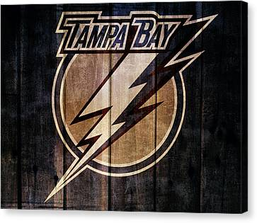 Lightning D Canvas Print - Tampa Bay Lightning Barn Door by Dan Sproul