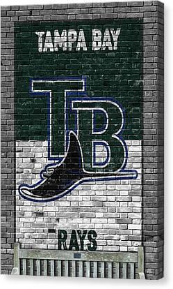 Tampa Bay Rays Brick Wall Canvas Print by Joe Hamilton