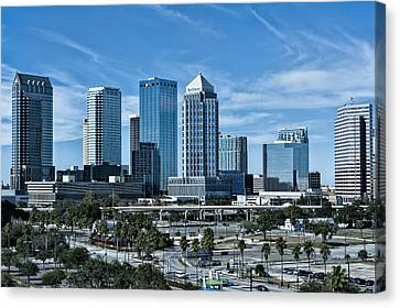 Canvas Print featuring the photograph Tampa Bay Skyline by Linda Constant