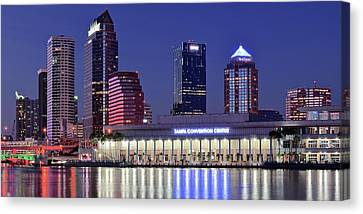 Tampa Convention Center Canvas Print by Frozen in Time Fine Art Photography