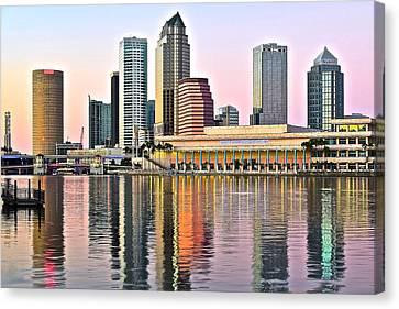 Tampa In Vivid Color Canvas Print